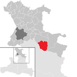 Lage der Gemeinde Hintersee (Gemeinde) im Flachgau(anklickbare Karte)