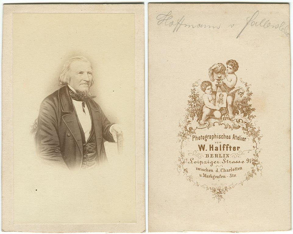 DateiHoffmann Von Fallersleben Carte De Visite W Halffter Berlin Bild Und Ruckseite