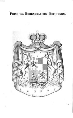 Coat of arms of a prince of Hohenzollern-Hechingen Hohenzollern Hechingen - Tyroff AT.jpg
