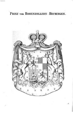 Hohenzollern-Hechingen - Arms of a Prince of Hohenzollern-Hechingen
