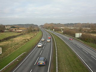 A338 road road in England
