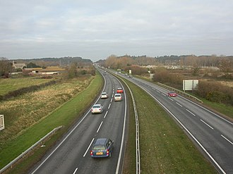 A338 road - Image: Holdenhurst, Spur Road geograph.org.uk 1076663