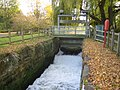Holme Mills sluice and River Ivel Navigation disused lock - geograph.org.uk - 611657.jpg