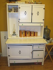 Beau A Free Standing Piece Of Furniture With A Workspace And Drawers With  Storage. A Hoosier Cabinet