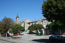 Village centre of L'Hospitalet-du-Larzac