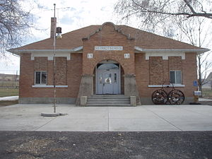 Howell, Utah - The old schoolhouse in Howell