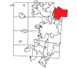 Location within Montgomery County, Ohio