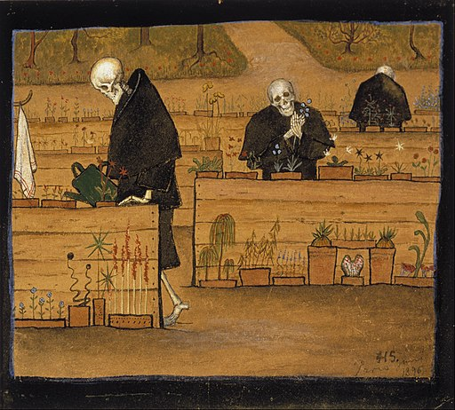 Hugo Simberg - The Garden of Death - Google Art Project