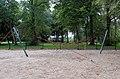 Hyperbolic paraboloid playnet, Earlston Gardens.jpg