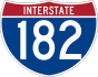 Interstate 182 marker