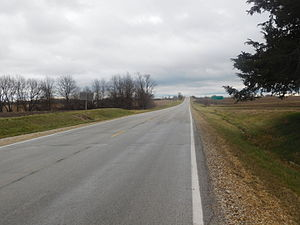 Illinois Route 95 - IL 95 heading east of IL 41