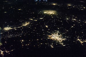 Texas Triangle - Image of the Texas Triangle at night from the International Space Station. June 2013