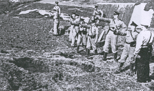 Invasion of Iceland - Icelandic police officers undergoing firearms instruction in 1940