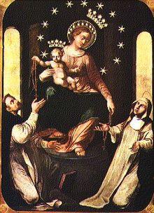 Virgen del Rosario de Pompeya / Columna de flagelacion de Cristo ff S-XIX (R.M. SXIX-C21) 220px-Icona_Madonna_Pompei