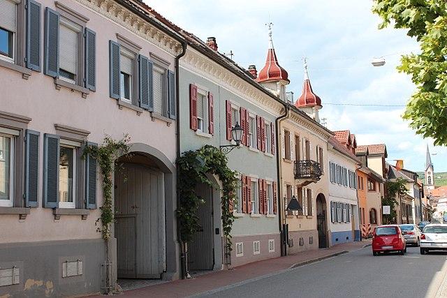 Straßenzug in Ihringen