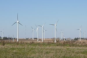 Lee County, Illinois - A wind farm in southeast Lee county just west of Interstate 39 exit 82.