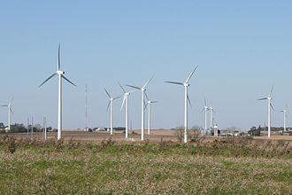 Lee County, Illinois - A wind farm in southeast Lee county at Interstate 39 exit 82.