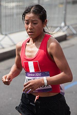 Inés Melchor - Inés Melchor at the 2012 Summer Olympics Marathon