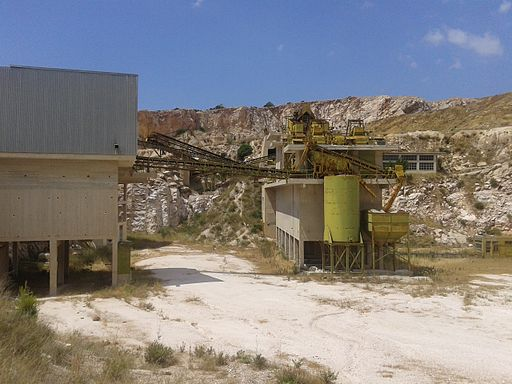 Inactive quarry in attica Greece