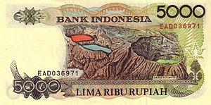 Kelimutu - Kelimutu featured in 5,000-rupiah banknote.