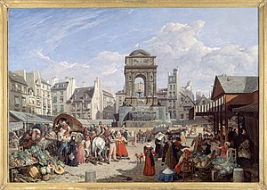Paris during the Bourbon Restoration - Market of the Saint-Innocents (1822)