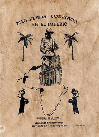Instituto San Isidro - The school featured in an Africanist propaganda leaflet encouraging enlistment for posts in Spanish Africa, 1909