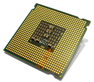 LGA 771 - An E5450 modified to fit in Socket 775 motherboards.