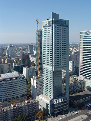 InterContinental Warsaw seen from from the Pal...