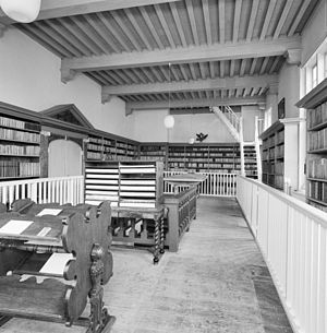 Bibliotheca Thysiana - Image: Interieur, eerste verdieping, overzicht leeszaal Leiden 20337182 RCE