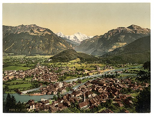 Interlaken, from the Heimwehfluh, towards the Harder, Bernese Oberland, Switzerland-LCCN2001701181