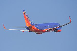 A Southwest Airlines Boeing 737-700 (N235WN) t...
