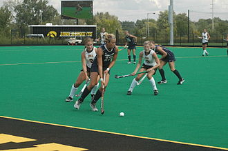Iowa Hawkeyes field hockey - Dr. Christine H.B. Grant Field during a game in 2011