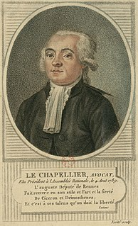 Isaac René Guy le Chapelier French politician