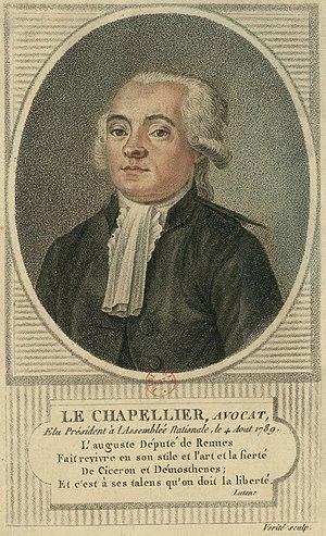 Isaac René Guy le Chapelier - Le Chapelier
