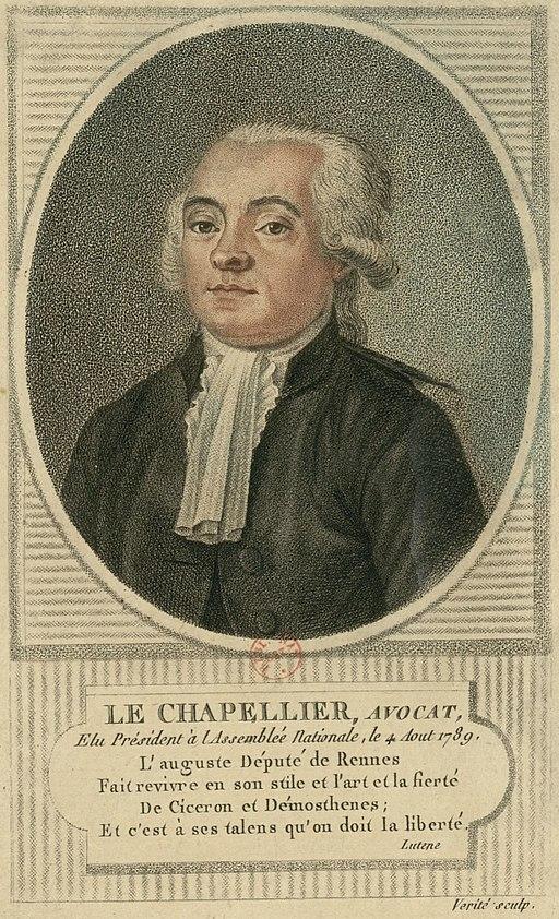 Isaac René Guy le Chapelier (Jean le Chapelier, 1754-1794), French politician