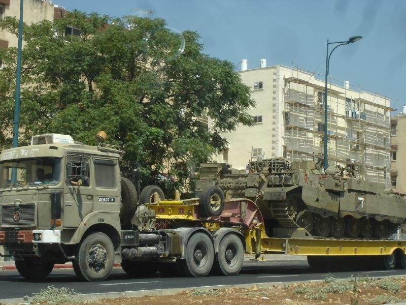Israeli tank transporter