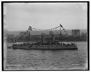Italian cruiser Etruria - Image: Italian cruiser Etruria Hudson 1909 LOC 4a 16123v