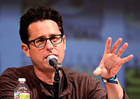 J.J. Abrams talks at a convention.