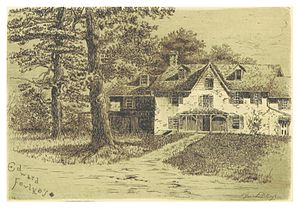 Blanche Dillaye - Image: JENKINS(1884) p 047 PRESENT HOUSE ON THE SITE OF EDWARD FOULKE'S ORIGINAL DWELLING