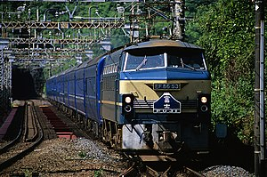 Fuji (train) - Fuji service hauled by EF66 locomotive, June 2004