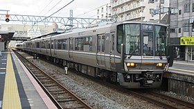 JRW Series 223 set CV23 at Ōkubo station 01.jpg