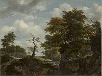 Jacob van Ruisdael - Landscape with Bridge, Cattle, and Figures (ca.1660).jpg