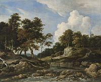 Jacob van Ruisdael - Wooded River Landscape with Bridge.jpg