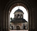 Jagannath temple or Rath Temple of Puthia Temple Complex from the window of Big Shiva Temple by PRG.jpg