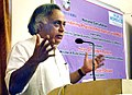 "Jairam Ramesh delivering the key-note address, at the National Consultation on ""Engendering Physical Infrastructure via PMGSY"", organized by the Center for Gender Economics Department of Economics, University of Mumbai.jpg"