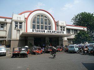Frans Johan Louwrens Ghijsels - Image: Jakarta Kota Station