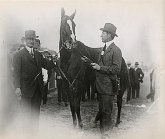 1915 Kentucky Derby - Regret and owner Harry Payne Whitney