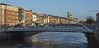 James Joyce Bridge - James Joyce Bridge - looking downstream