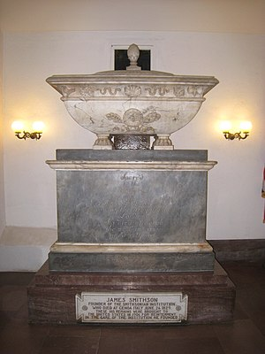 James Smithson - Smithson's crypt in Washington