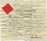 James William Munday's Master's Certificate, 1862-11-06, p1.png